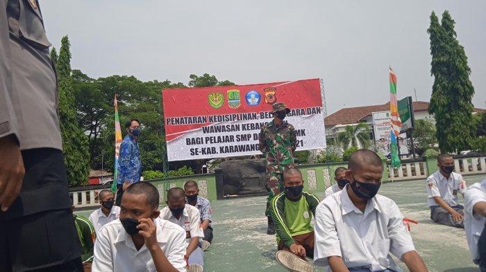 Pelajar Karawang Suka Tawuran Dibina Seminggu Oleh Tentara Infanteri di Yonif PR 305/Tengkorak