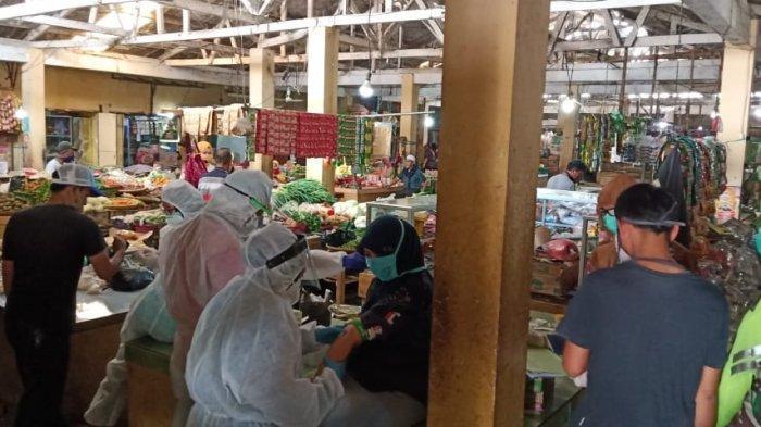 Rapid Tes Massal di Pasar Warung Doyong Ciamis, Seorang Pengunjung Kabur, Pura-pura ke WC