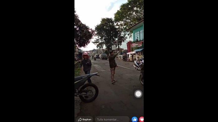 Viral Terekam Kamera, Pencuri Motor Todongkan Senjata Api di Cikajang Garut