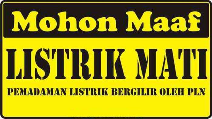 Wilayah dan Jadwal Pemadaman Listrik Bergilir di Wilayah Cirebon Hari Ini, Selasa 3 November 2020