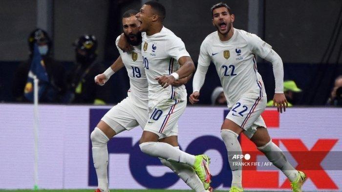 Hasil Final UEFA National League, Prancis Juara, Karim Benzema dan Kylian Mbappe Jadi Penentu