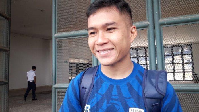 Pemain Persib Bandung Erwin Ramdani, Rabu (11/3/2020).