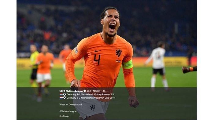 Belanda Melaju ke Babak Final UEFA Nations League, Jerman Terdegradasi ke Liga B