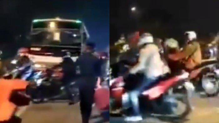 Sebuah video viral yang memperlihatkan banyaknya pemudik lolos penyekatan di Karawang jadi perbincangan.