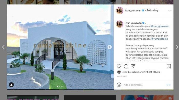 Penampakan desain Masjid Mega Bintang yang akan dibangun Ivan Gunawan di Garut.