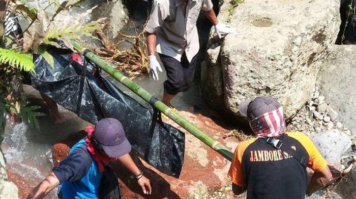 Mayat Laki-laki Tanpa Busana Ditemukan Warga Cililin di Sungai Curug Sawer