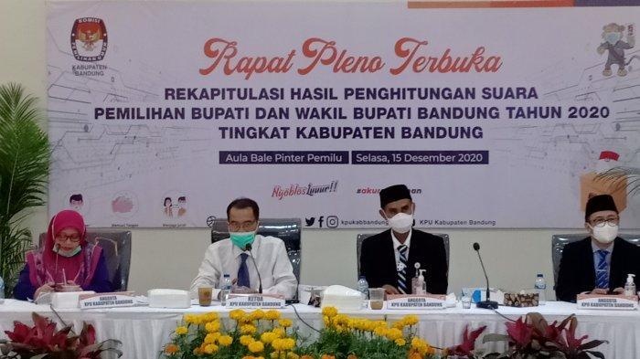 BREAKING News, Hasil Hitung Suara KPU Kabupaten Bandung, Dadang-Sahrul Gunawan Raih Suara Terbanyak
