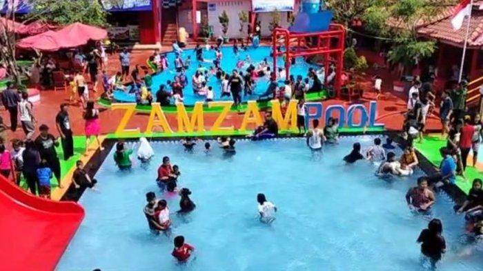 Zamzam Pool Kuningan Ramai Dikunjungi, Manajemen Tambah Loket Tiket dan Atur Antrean