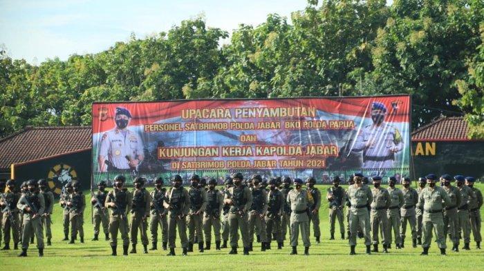 Puluhan Anggota Brimob Polda Jabar Pulang ke Rumah Setelah 8 Bulan di Papua, Ini Pesan Kapolda Jabar