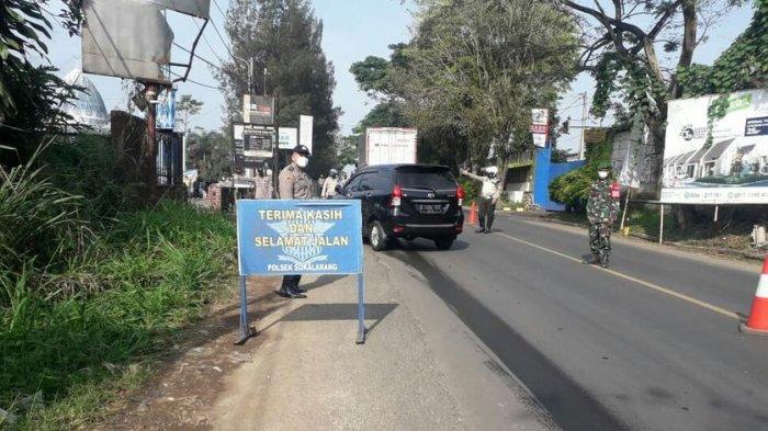 Di Perbatasan Sukabumi dan Cianjur, Ratusan Pengemudi Diminta Putar Arah Kendaraan
