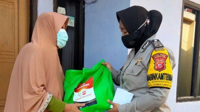 Polres Sukabumi Kota Salurkan Beras 6,5 Ton untuk Masyarakat Terdampak PPKM, Didistribusikan Polsek