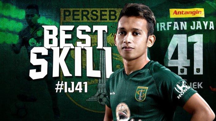 Penyerang Persebaya, Irfan Jaya, terpilih sebagai pemain terbaik Liga 2.