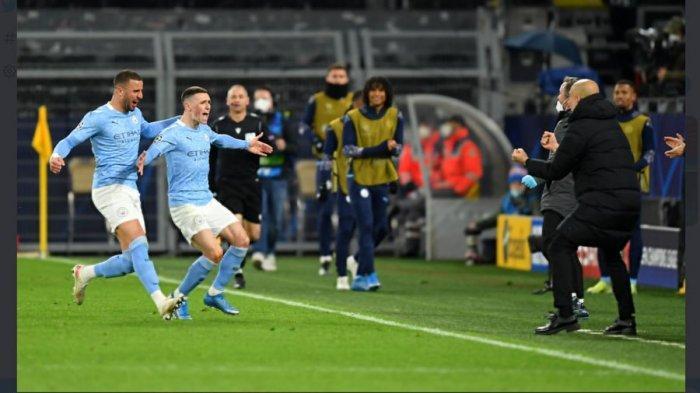 Manchester City ke Semifinal Liga Champions, Ini Kata Pep Guardiola pada Phil Foden Saat Rayakan Gol