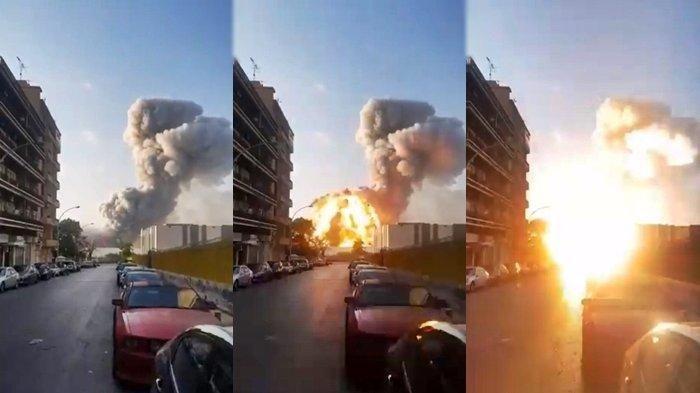 Dua Mobil TNI Terkena Ledakan Dahsyat di Beirut Lebanon, Lokasi Ledakan 7 Kilometer dari KBRI