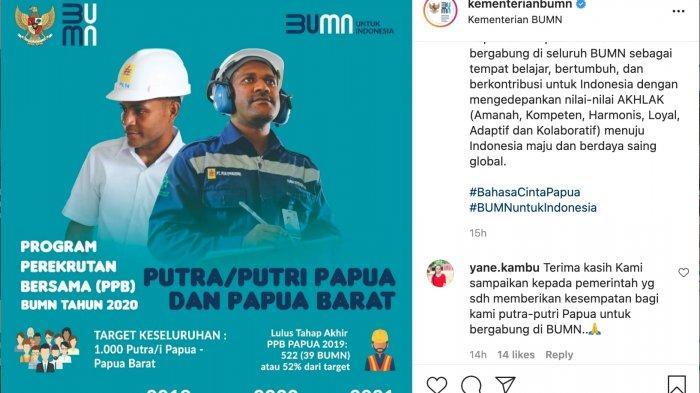 SIAP-SIAP, Perekrutan Bersama BUMN untuk Putra-Putri Papua dan Papua Barat 2021 Segera Dibuka Lagi