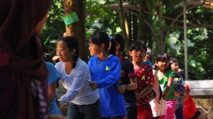 Senangnya Bermain Oray Orayan Di Taman Hutan Juanda Tribun Jabar