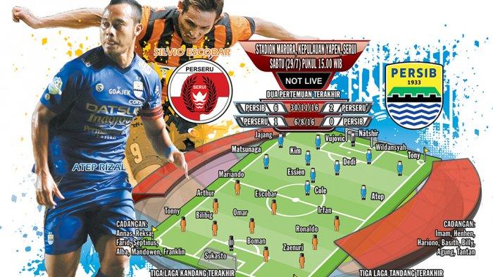 Tutup Putaran Pertama Liga 1, Persib Bandung Kalah 1-2 dari Perseru Serui