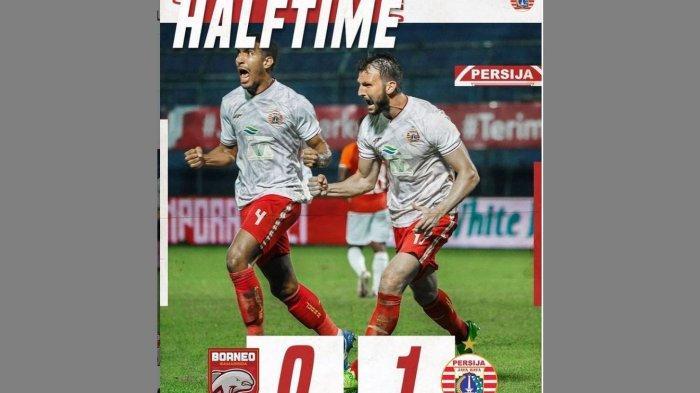 Saksikan babak kedua live streaming Indosiar laga Persija Jakarta vs Borneo FC, Grup B Piala Menpora 2021, malam ini. Persija cetak gol.