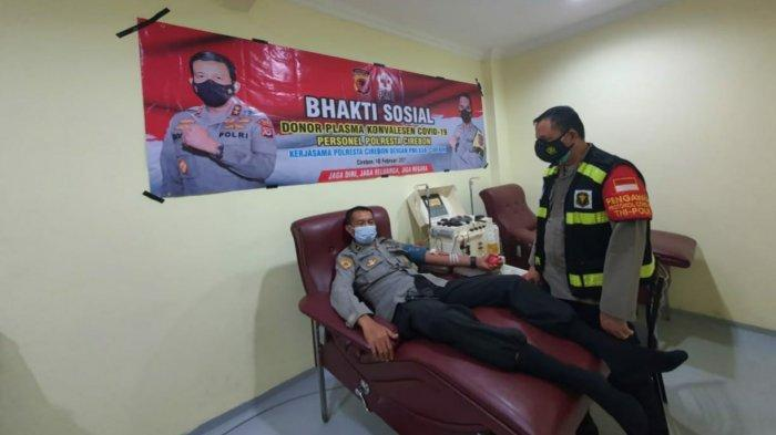 Bantu Pengobatan Pasien Covid-19, 14 Personel Polresta Cirebon Donor Plasma Darah