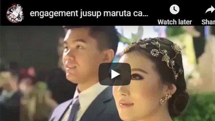 Pertunangan Jusup Maruta Cahyadi dan Clarissa.