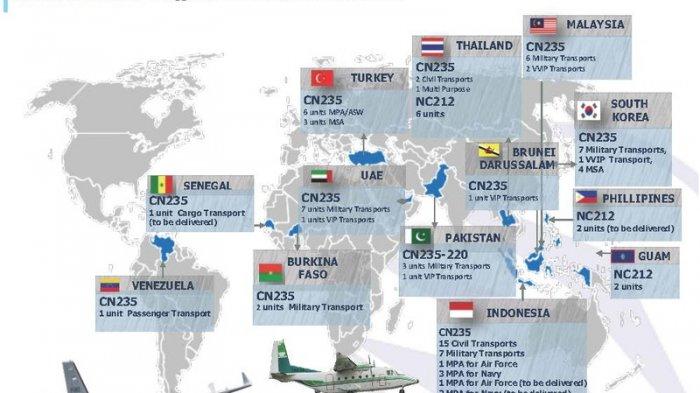 Ternyata 12 Negara Ini Telah Merasakan Kehebatan Pesawat CN235