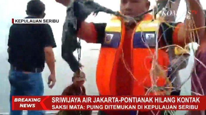 Anomali Warna Air Laut di Lokasi Jatuhnya Sriwijaya Air SJ-182, Ini Penjelasan TNI AU