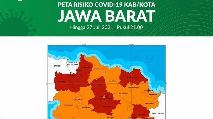 Update Covid-19 di Jawa Barat, Zona Merah Berkurang dari 21 Jadi 13 Daerah, Ini Daftarnya