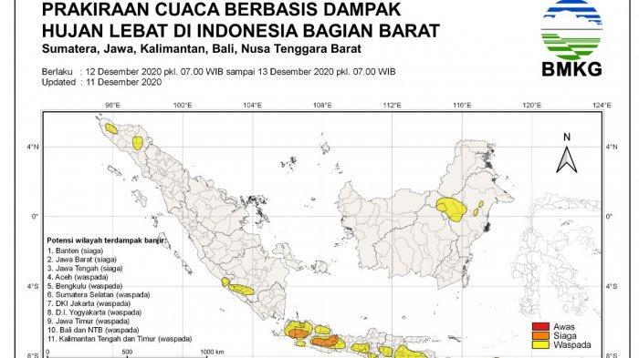 BMKG Catat Cuaca Buruk di Wilayah Ciayumajakuning, Ini Daerah yang Paling Berpotensi Terdampak