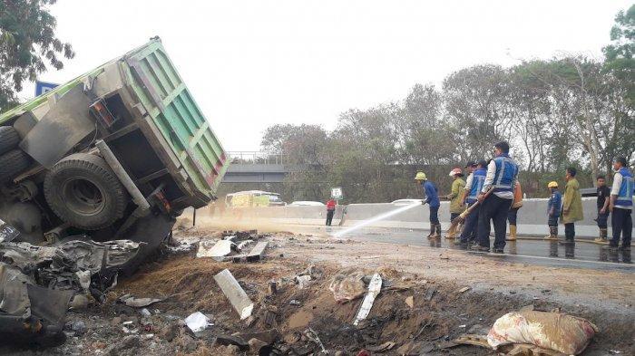 1 Korban Tewas Tabrakan Beruntun Tol Cipularang Sudah Diidentifikasi, Tabrakan Libatkan 21 Kendaraan