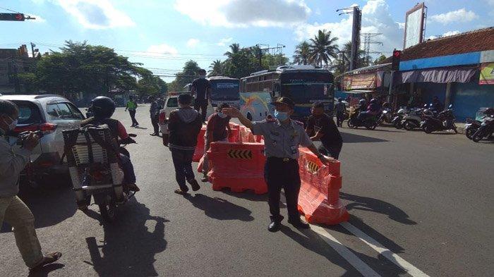 Jelang Lebaran, Tim Gabungan Menertibkan Terminal Bayangan di Pasar Manis Ciamis