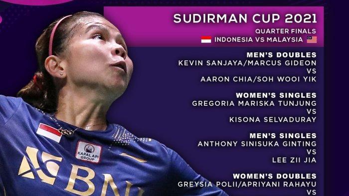 STREAMING Greysia Polii/Apriyani Rahayu Jalani Laga Hidup dan Mati di Piala Sudirman Lawan Malaysia