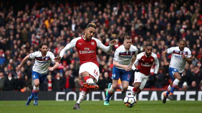 Arsenal vs Newcastle United, Liga Inggris, Panggung Pierre-Emerick Aubameyang, Cetak Brace