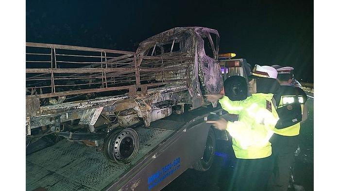 Polres Majalengka Ungkap Penyebab Mobil Pikap dan APV Terbakar saat Kecelakaan di Tol Cipali