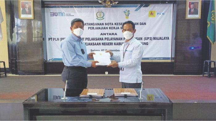 Untuk Menagih Tunggakan Pelanggan PLN UP3 Majalaya MoU dengan Kejari Kabupaten Bandung
