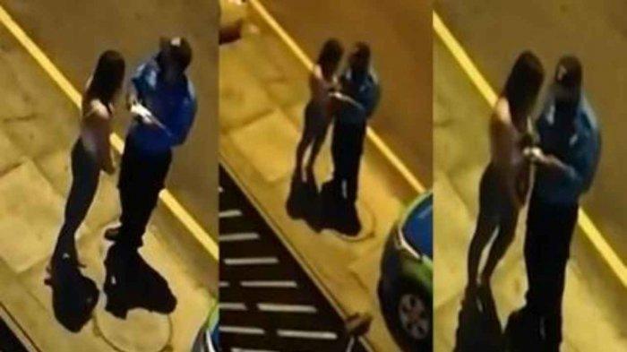 VIRAL - Polisi Berciuman dengan Perempuan yang Harusnya Ditilang