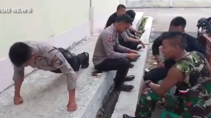 Lho, Polisi Di-Push Up Anggota TNI Sampai Berkali-kali, Ternyata Ini yang Sebenarnya Terjadi