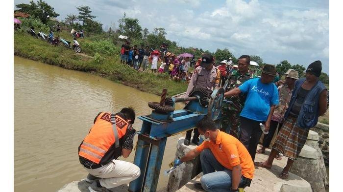 Jasad Bayi Ditemukan Ngambang di Kali Cimanis Indramayu, Diduga Hasil Hubungan Gelap