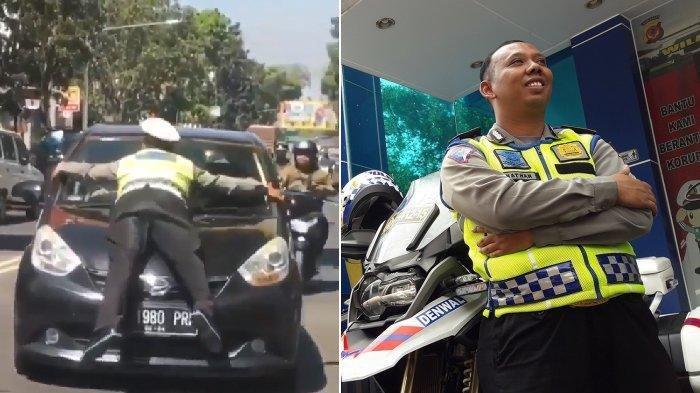 Brigadir Natan, Polisi Viral yang Nemplok dan Terseret Mobil di Bandung, Kini Diberi Sepeda