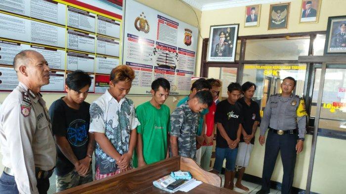 Bak Jagoan, Preman Kampung Asal Indramayu Keroyok Tiga Orang, Tertunduk saat Ditangkap Polisi