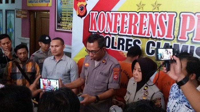 Polres Ciamis Tutup Lokasi penambangan Liar di Kalipucang, 3 Orang Diamankan