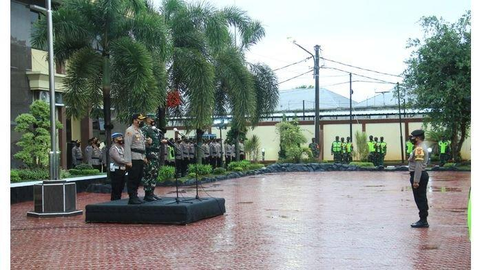 Gelar Apel Pasukan, Polres Karawang Siapkan Pengamanan Pandemi Juga Pilkada