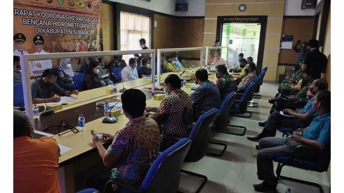 Jajaran Polres Subang Gelar Rakor Kebencanaan Banjir dan Longsor Bersama Forkopimda & Pihak Terkait