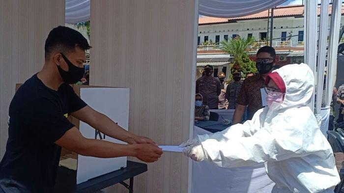 Polresta Bandung Gelar Simulasi Pengamanan Pilkada di Tengah Pandemi Covid, Personel Akan Tes Swab