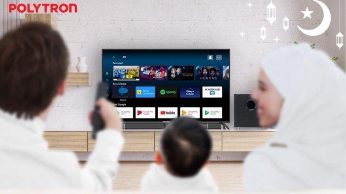 Akhir Pekan Lebih Seru Dengan Smart Cinemax Soundbar Android 4K Ultra HD  Layar Lebar 55 Inci