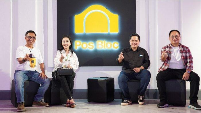 "Erick Thohir Resmikan Pos Bloc Jakarta  ""Arts, Culture, Entertainment in a Heritage Place"""