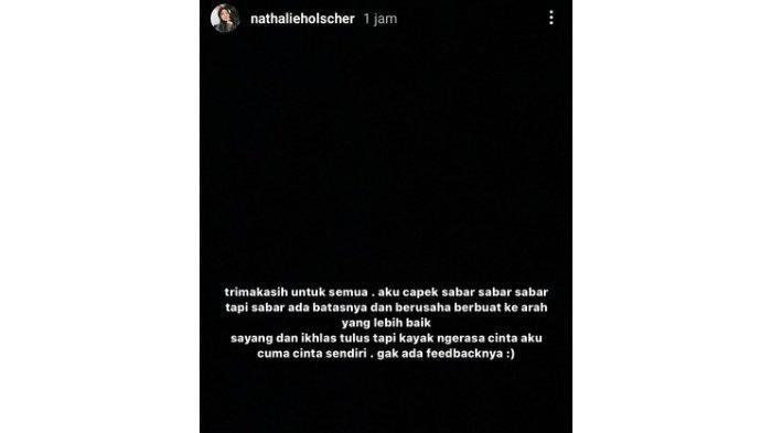 Isi curahan hati Nathalie Holscher.