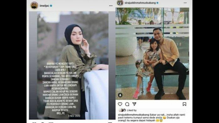 Postingan suami Zaskia Gotik yang viral.