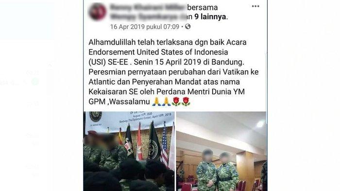 Kejanggalan Postingan Sunda Empire, Kendalikan Pemerintah Dunia dari Bandung, Singgung Soal Atlantic