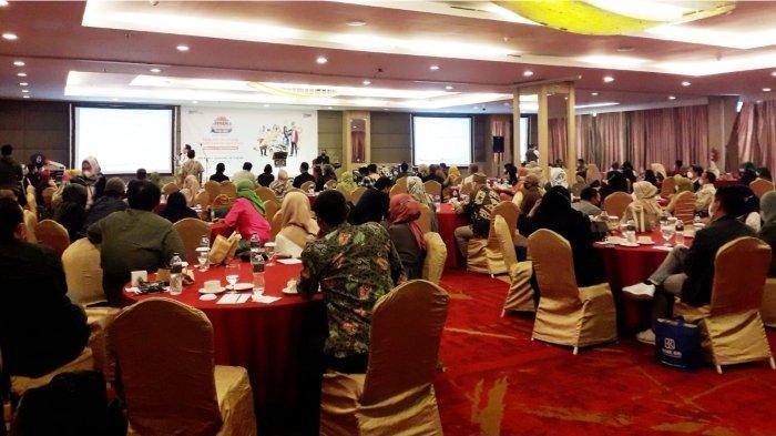 Suasana undian PHS BRI Kanca Bandung Setiabudhi di Grand Tjokro Hotel yang menerapkan protokol kesehatan.*