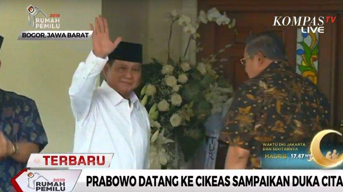 Prabowo Tiba di Kediaman SBY untuk Sampaikan Belasungkawa Atas Wafatnya Ani Yudhoyono